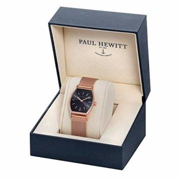 PAUL HEWITT Armbanduhr Damen Modern Edge Line Black Sunray - Damen Uhr (Rosegold), Damenuhr Edelstahlarmband in Rosegold, schwarzes Ziffernblatt - 3
