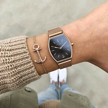 PAUL HEWITT Armbanduhr Damen Modern Edge Line Black Sunray - Damen Uhr (Rosegold), Damenuhr Edelstahlarmband in Rosegold, schwarzes Ziffernblatt - 5