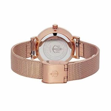 PAUL HEWITT Armbanduhr Damen Sailor Line Modest Blue Lagoon - Damen Uhr (Rosegold), Damenuhr Edelstahlarmband in Rosegold, blaues Ziffernblatt - 2