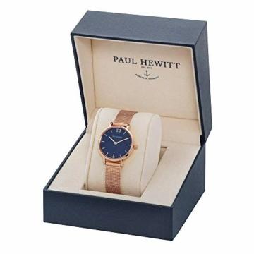 PAUL HEWITT Armbanduhr Damen Sailor Line Modest Blue Lagoon - Damen Uhr (Rosegold), Damenuhr Edelstahlarmband in Rosegold, blaues Ziffernblatt - 3