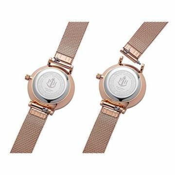 PAUL HEWITT Armbanduhr Damen Sailor Line Modest Blue Lagoon - Damen Uhr (Rosegold), Damenuhr Edelstahlarmband in Rosegold, blaues Ziffernblatt - 4