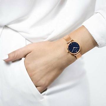 PAUL HEWITT Armbanduhr Damen Sailor Line Modest Blue Lagoon - Damen Uhr (Rosegold), Damenuhr Edelstahlarmband in Rosegold, blaues Ziffernblatt - 5