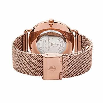 PAUL HEWITT Armbanduhr Damen Sailor Line White Sand - Damen Uhr (Rosegold), Damenuhr Edelstahlarmband in Rosegold, weißes Ziffernblatt - 2
