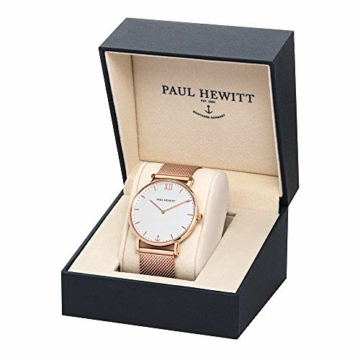 PAUL HEWITT Armbanduhr Damen Sailor Line White Sand - Damen Uhr (Rosegold), Damenuhr Edelstahlarmband in Rosegold, weißes Ziffernblatt - 3