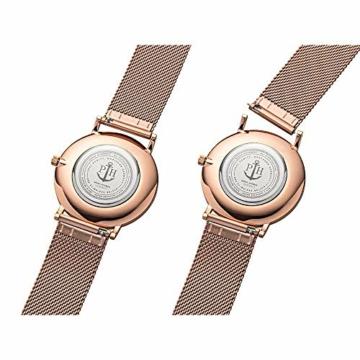 PAUL HEWITT Armbanduhr Damen Sailor Line White Sand - Damen Uhr (Rosegold), Damenuhr Edelstahlarmband in Rosegold, weißes Ziffernblatt - 5