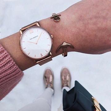 PAUL HEWITT Armbanduhr Damen Sailor Line White Sand - Damen Uhr (Rosegold), Damenuhr Edelstahlarmband in Rosegold, weißes Ziffernblatt - 6