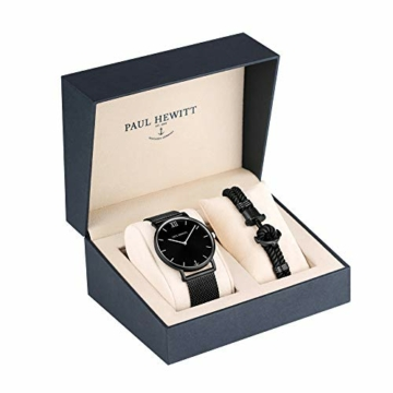 PAUL HEWITT Geschenk für Männer und Frauen Perfect Match - Geschenk Box mit Armbanduhr (Sailor Line) und Armband (PHREP), Damen und Herren - 4