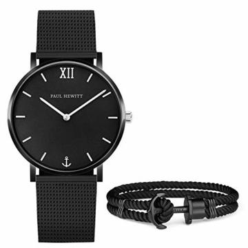 PAUL HEWITT Geschenk für Männer und Frauen Perfect Match - Geschenk Box mit Armbanduhr (Sailor Line) und Armband (PHREP), Damen und Herren - 1
