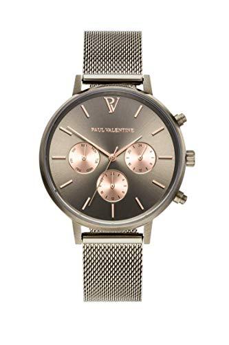 Paul Valentine - Damenuhr Geschenkbox Multifunctional Geschenkbox mit hochwertigem Faye Sleek Bracelet Silver oder Roségold Geschenkset Uhren-Box mit passendem Armband (Multifunctional Khaki Box) - 4