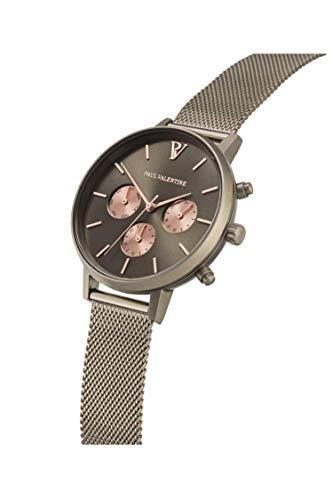 Paul Valentine - Damenuhr Geschenkbox Multifunctional Geschenkbox mit hochwertigem Faye Sleek Bracelet Silver oder Roségold Geschenkset Uhren-Box mit passendem Armband (Multifunctional Khaki Box) - 5