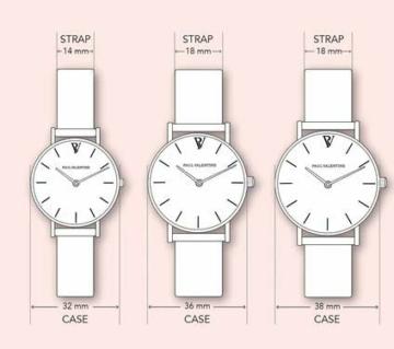 Paul Valentine Damenuhr - Marina Pearl Gold Mesh - Armbanduhr mit weißem Ziffernblatt, kratzfestes Glas, Mesh-Armband in Gold, Uhr für Damen (32mm) - 6
