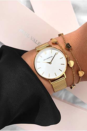 Paul Valentine Damenuhr - Marina Pearl Gold Mesh - Armbanduhr mit weißem Ziffernblatt, kratzfestes Glas, Mesh-Armband in Gold, Uhr für Damen (32mm) - 7