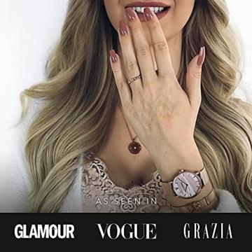 Paul Valentine - Damenuhr mit Mesh Armband - 32, 36 oder 38mm - Edle Damen Uhr mit japanischem Quarzwerk - Spritzwassergeschützt - Armbanduhr für Damen - 5