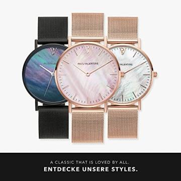 Paul Valentine - Damenuhr mit Mesh Armband - 32, 36 oder 38mm - Edle Damen Uhr mit japanischem Quarzwerk - Spritzwassergeschützt - Armbanduhr für Damen - 6