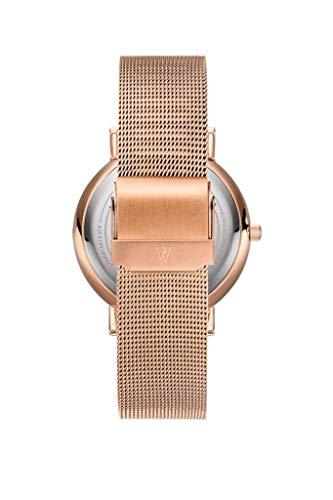 Paul Valentine - Damenuhr mit Mesh Armband - 32, 36 oder 38mm - Edle Damen Uhr mit japanischem Quarzwerk - Spritzwassergeschützt - Armbanduhr für Damen - 3