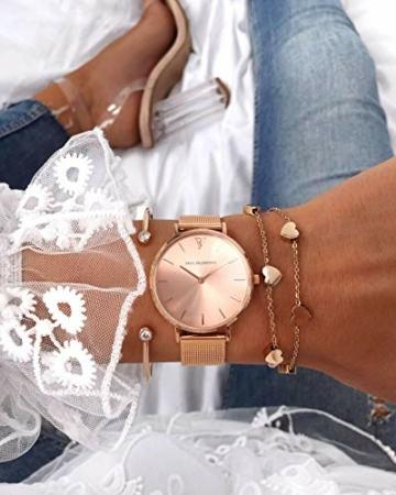 Paul Valentine - Damenuhr mit Mesh Armband - 32, 36 oder 38mm - Edle Damen Uhr mit japanischem Quarzwerk - Spritzwassergeschützt - Armbanduhr für Damen - 4