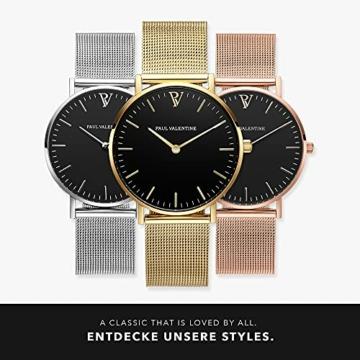 Paul Valentine Damenuhr - Pearl Gold Mesh - Armbanduhr mit schönem Ziffernblatt, kratzfestes Glas, Mesh-Armband in Gold, Uhr für Damen zum Muttertag (32mm) - 6