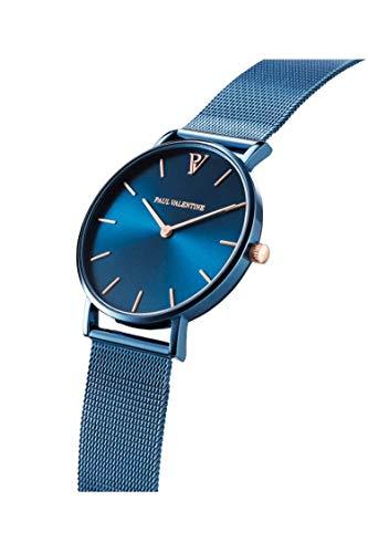 Paul Valentine - Damenuhr und Armband Set - Blue Mesh und Circle Bracelet Set - Edle Damen Uhr mit japanischem Quarzwerk mit passendem Armband - Schmuck Geschenk Frauen - 3