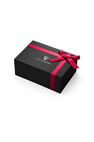 Paul Valentine - Geschenkbox Damenuhr Glossyedge Black Rosegold Black Mesh mit hochwertigem Double-Leyered Sleek Bracelet Geschenkset Uhrenbox mit passendem Armband - 3