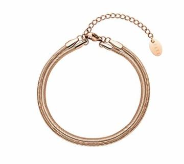 Paul Valentine - Geschenkbox Damenuhr Glossyedge Black Rosegold Black Mesh mit hochwertigem Double-Leyered Sleek Bracelet Geschenkset Uhrenbox mit passendem Armband - 4