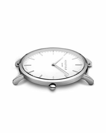 Rosefield Damen Uhr The Bowery: Roségold 38mm Rundes Gehäuse - Graues Band BWGS-B10 - 3
