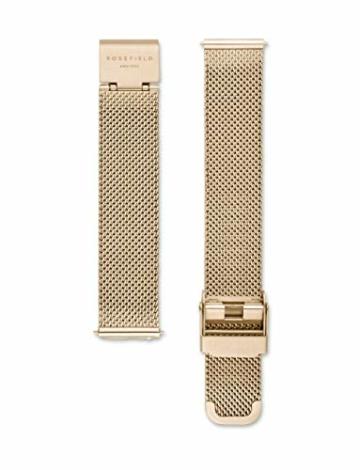 Rosefield Damenuhr The Tribeca Gold 33mm Rundes Gehäuse mit Weißem Zifferblatt und goldenem Band - TWG-T51 - 2
