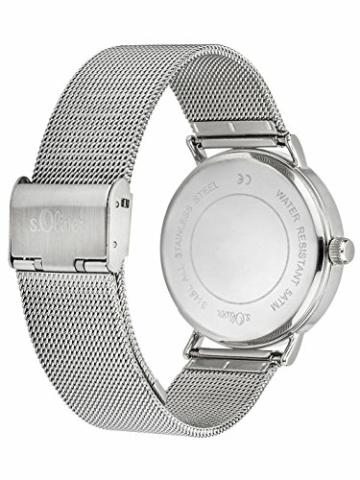 s.Oliver Damen Analog Quarz Armbanduhr mit Edelstahlarmband SO-3145-MQ - 2
