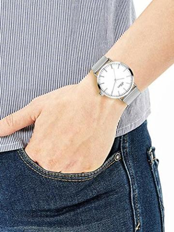 s.Oliver Damen Analog Quarz Armbanduhr mit Edelstahlarmband SO-3145-MQ - 3