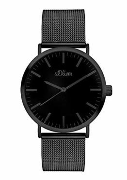 s.Oliver Damen Analog Quarz Armbanduhr mit Edelstahlarmband SO-3216-MQ - 1
