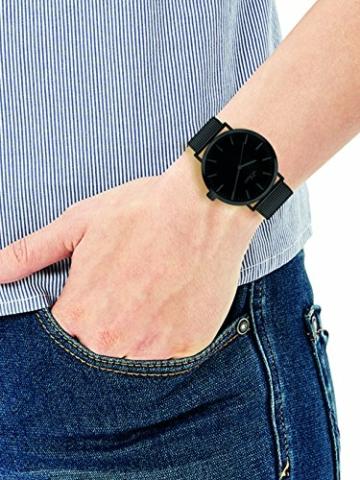 s.Oliver Damen Analog Quarz Armbanduhr mit Edelstahlarmband SO-3216-MQ - 2