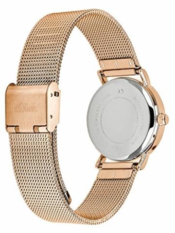 s.Oliver Damen Analog Quarz Armbanduhr mit Edelstahlarmband SO-3272-MQ - 2