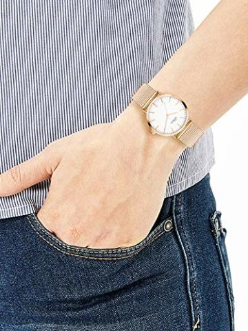 s.Oliver Damen Analog Quarz Armbanduhr mit Edelstahlarmband SO-3272-MQ - 3