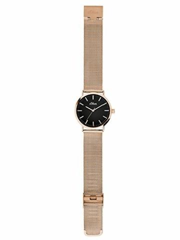 s.Oliver Damen Analog Quarz Armbanduhr mit Edelstahlarmband SO-3327-MQ - 2