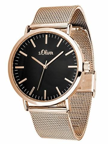 s.Oliver Damen Analog Quarz Armbanduhr mit Edelstahlarmband SO-3327-MQ - 3