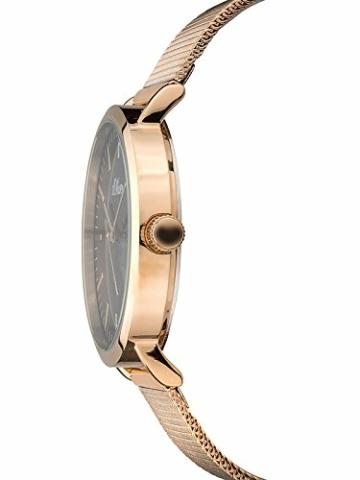 s.Oliver Damen Analog Quarz Armbanduhr mit Edelstahlarmband SO-3327-MQ - 4