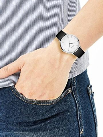 s.Oliver Damen Analog Quarz Armbanduhr mit Lederarmband SO-3440-LQ - 2