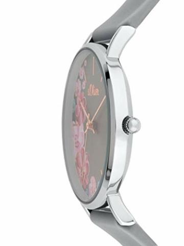 s.Oliver Damen Analog Quarz Armbanduhr mit Silikonarmband SO-3707-PQ - 3