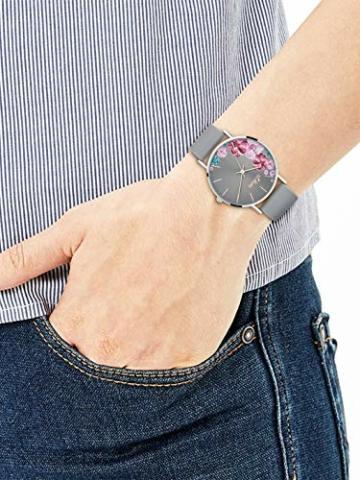s.Oliver Damen Analog Quarz Armbanduhr mit Silikonarmband SO-3707-PQ - 5