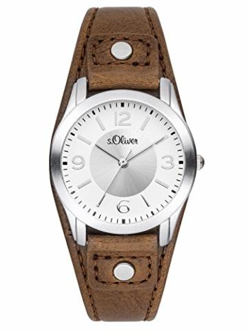 s.Oliver Damen Analog Quarz Armbanduhr SO-2946-LQ - 1