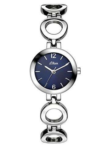 s.Oliver Damen Analog Quarz Armbanduhr SO-3015-MQ - 1