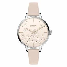 s.Oliver Damen Analog Quarz Uhr mit Edelstahl Armband SO-3837-MQ - 1