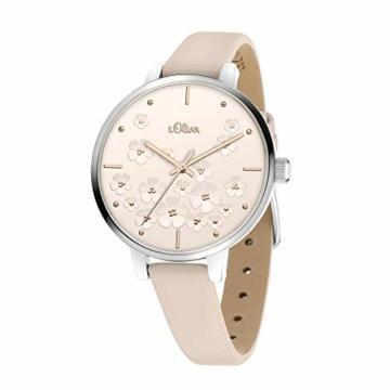s.Oliver Damen Analog Quarz Uhr mit Edelstahl Armband SO-3837-MQ - 2