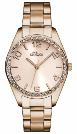 s.Oliver Damen Quarz Armbanduhr mit Edelstahlarmband - 1