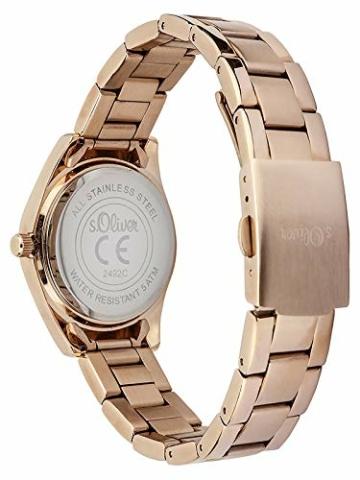 s.Oliver Damen Quarz Armbanduhr mit Edelstahlarmband - 2