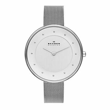Skagen Damen Analog Quarz Uhr mit Edelstahl Armband SKW2140 - 1