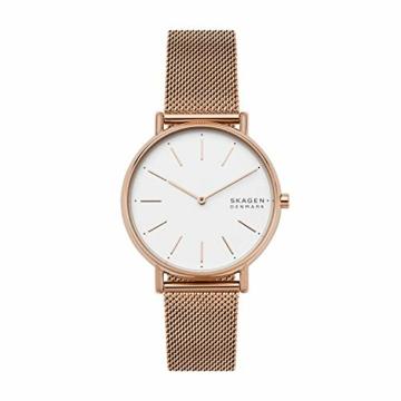 Skagen Damen Analog Quarz Uhr mit Edelstahl Armband SKW2784 - 1