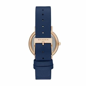 Skagen Damen Analog Quarz Uhr mit Leder Armband SKW2838 - 2