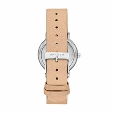 Skagen Damen Analog Quarz Uhr mit Leder Armband SKW2839 - 2