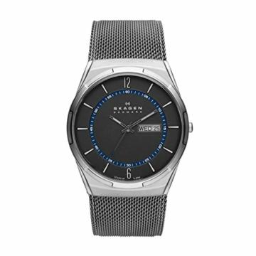 Skagen Herren Analog Quarz Uhr mit Edelstahl Armband SKW6078 - 1
