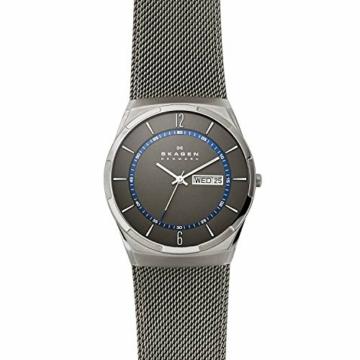 Skagen Herren Analog Quarz Uhr mit Edelstahl Armband SKW6078 - 4